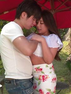 Mei Matsumoto - Mei Matsumoto mind blowing Asian blowjob with sex - Screenshot 1