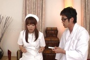 Hina Misaki in white stockings banged in group sex Photo 12