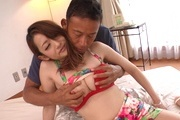 Sexy av model Reon Otowa rides his cock for a creampie Photo 10