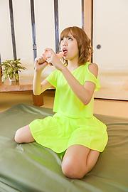 Kana Aono - Kana Aono uses a japanese dildo to make herself cum - Picture 7