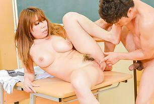 Big tits hottie goes wild with her needy teacher