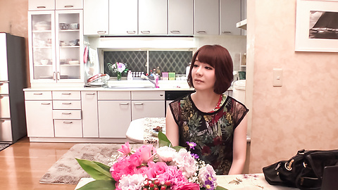 Airi Miyazaki - Airi Miyazaki gives head in the kitchen and swallows  - Picture 1