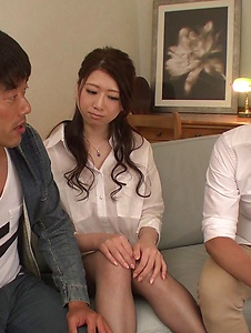 Ryo Makoto - Sexy is in for a special Asian threesome porn  - Screenshot 10