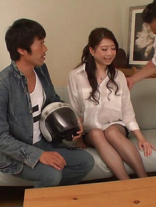 Ryo Makoto - Sexy is in for a special Asian threesome porn  - Screenshot 6