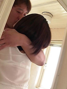 Ameri Koshikawa - Brunette with small tits, amazing Japanese blow job  - Screenshot 1