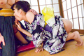 Asian blow job with steamy model, YuiOba