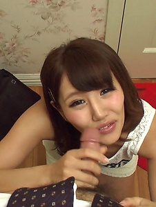 Konoha Kasukabe - Sexy Konoha Kasukabe gives Asian blow job in POV  - Screenshot 10
