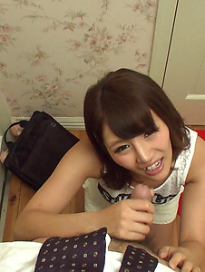 Konoha Kasukabe - Sexy Konoha Kasukabe gives Asian blow job in POV  - Screenshot 9