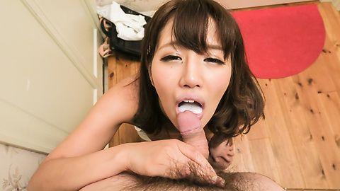 Hot Konoha Kasukabe sucks dick in perfect POV