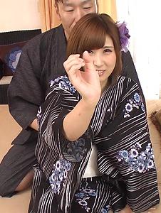 Honoka Orihara - Honoka Orihara fucked hard after a superb Japanese blowjob - Screenshot 5