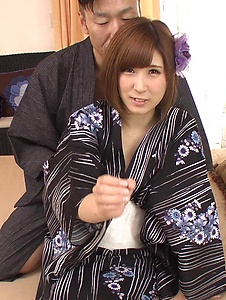 Honoka Orihara - Honoka Orihara fucked hard after a superb Japanese blowjob - Screenshot 6