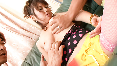 Naho Kojima - Teen Naho Kojima Gives an asian school girl blowjob - Picture 2