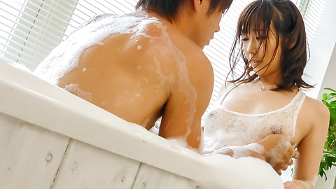 Hitomi Oki - Japanese wife fucked bad and creamed on pussy  - Picture 1