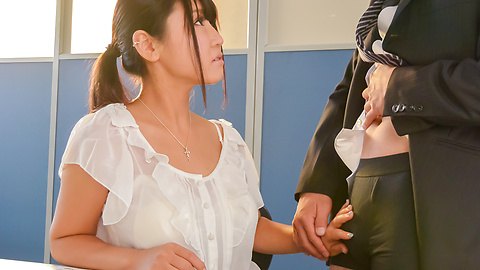 Yu Shinohara - Busty Japanese goes down on a juicy dick - Picture 5