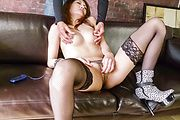 Asian milf in heats goes nasty in a big Asian cock Photo 4