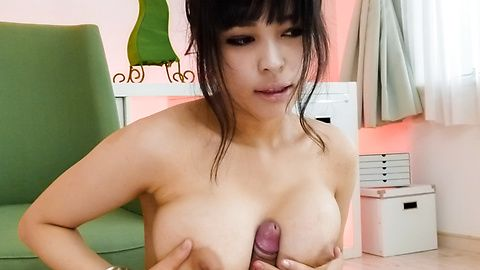 Busty MILF Kyouko Maki tit fucks and gives a japanese blowjob