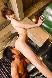 Makoto Yuukia - Asian cum onMakoto Yuukia's ass during hardcore - Picture 2