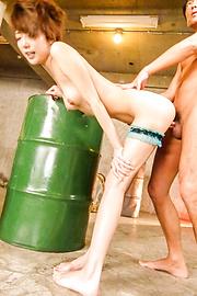 Makoto Yuukia - Asian cum onMakoto Yuukia's ass during hardcore - Picture 7