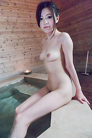 Miu Kimura - Miu Kimura provides Japanese blowjobs in the sauna  - Picture 1