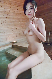 Miu Kimura - Miu Kimura provides Japanese blowjobs in the sauna  - Picture 5