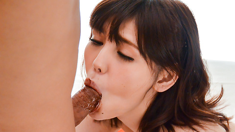 Yua Ariga - Skinny Yua Ariga creamed on pussy after a good fuck  - Picture 7
