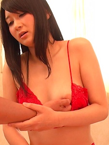 Chie Aoi - Chie Aoi gets a lot of cock in her tiny little pussy - Screenshot 7