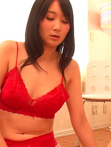 Chie Aoi - Chie Aoi gets a lot of cock in her tiny little pussy - Screenshot 8