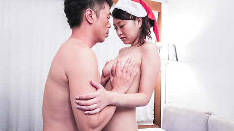 Miki Aimoto - Miki Aimoto insane Japanese blow job on Christmas  - Picture 2
