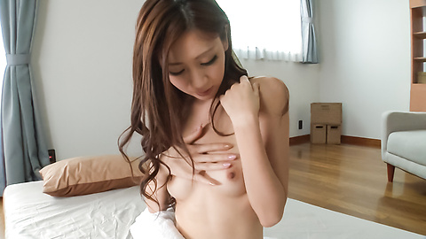 Kaori Maeda - สมัครเล่นแห่งเอเชีย Babe เล่นกับหีในไหมเดี่ยวเซ็กซี่ -  1 รูปภาพ