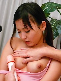 Ryo Asaka - Ryo Asaka gets legs spread for intense masturbation with vibrator - Picture 6