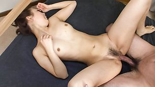 Yuki Asami has hairy twat in strong fuck