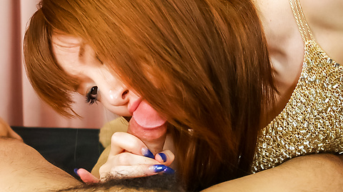 Kou Minefuji - Kou Minefuji amazes with her Asian blowjob  - Picture 10