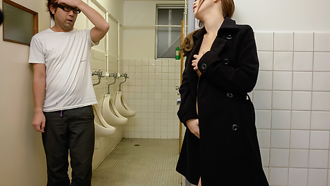 Rin Momoka - Asian blow job in public with Rin Momoka  - Picture 5