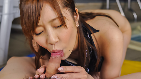 Kotone Amamiya - Kotone Amamiya amazes with her top Asian blowjob  - Picture 6