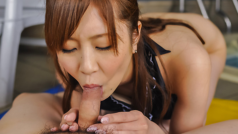 Kotone Amamiya - Kotone Amamiya amazes with her top Asian blowjob  - Picture 7