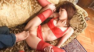 Sexy MILF Ibuki Feels Cum Drip From Her Pussy