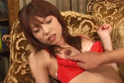 Sexy in red Ibuki gets her japanese pussy creampied Photo 11