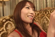 Sexy in red Ibuki gets her japanese pussy creampied Photo 3