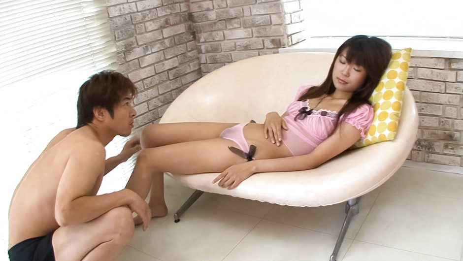 Yuuno Hoshi enjoying amazing stimulation down her hairy pussy