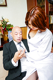 Erika Nishino - Amateur Asian blowjob by sleazy Erika Nishino - Picture 1