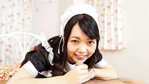 Hikaru Morikawa - Sexy maidHikaru Morikawa enjoys Japanese cum - Picture 4