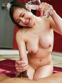 Miu Watanabe - Busty Miu Watanabe provides top Japanese blowjob - Picture 8