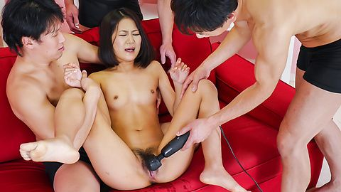 Amazing Japan group sex with naughty Kyoka Sono