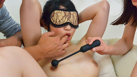 Reo Saionji - Asian with big dildo enjoying rough group pleasures  - Picture 6