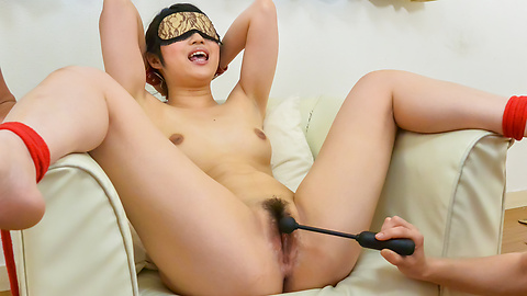 Reo Saionji - Asian with big dildo enjoying rough group pleasures  - Picture 9