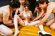 Airi Mizusawa provides Asian squirting during harsh threesome  Photo 4
