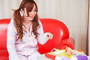 Big tits Japanese doll plays nasty in solo scenes  Photo 1