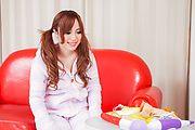 Rino Sakuragi - 绿诺科技樱木试下来她的阴户的亚洲假阳具 - 图片 2