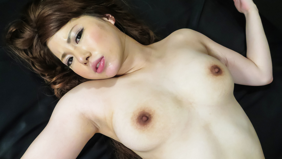 Asian milf endures big cock in her shaved holes