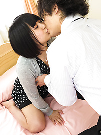 Mari Koizumi - Cock sucking brunette deals dick in many ways  - Picture 4